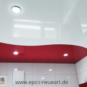 Bad zweifarbige Spanndecken Beleuchtung Karlsruhe