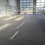 Die Fliesen in den Hallen sind verlegt, das Objekt ist bald fertig.