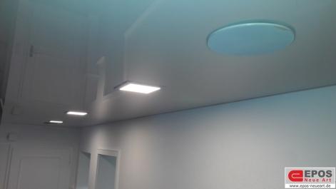 Spanndecke weiss glanz in Zahnartzpraxis von EPOS Neue Art